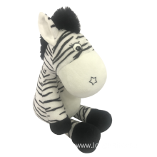 Plush Zebra With Rattle