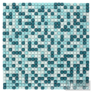 10mm Green Glass Mosaic Mix in Square