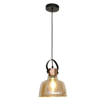 Amber color Glass pendant light
