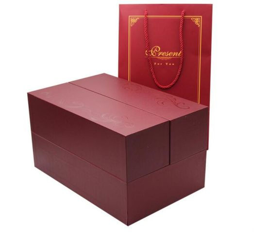 Custom Double Side Closure Wine Packaging Paper Box