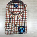 Male 100% cotton yarn dyed long sleeve shirt