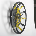 Vintage Gear Wall Clock Black and Yellow