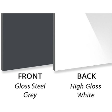 3MM Gloss Steel Grey Decorative Aluminium Composite Panel