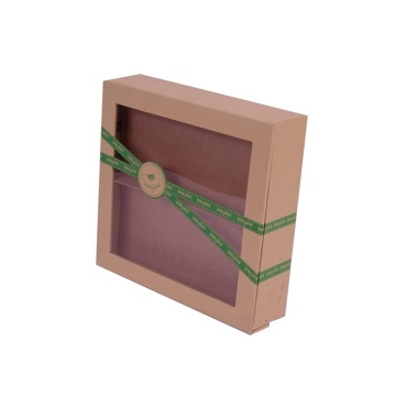 Customized Clear PVC Window Kraft Paper Box