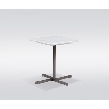 Square marble side table