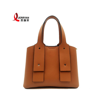 Tan Genuine Leather Tote Bags Sling Handbag