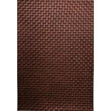 Bronze woven pattern PU leather