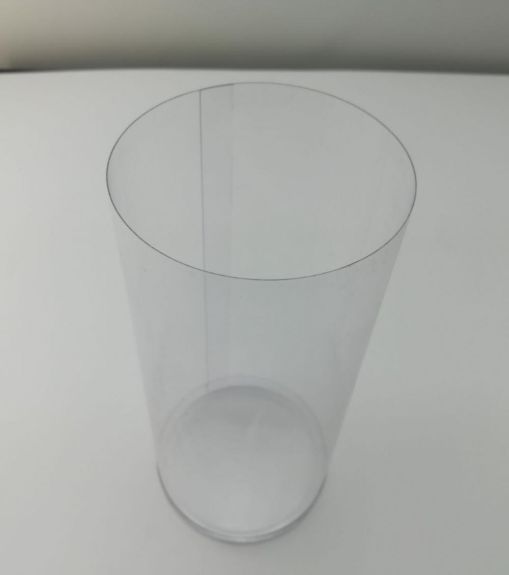 Customized clear pvc plastic printing cylinder packaging