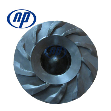 Rubber mining pump impeller