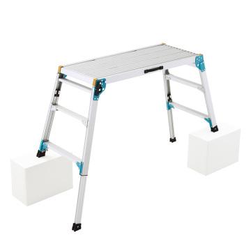 HASEGAWA Work platform Aluminum alloy Step Ladder Drywall Safe Heavy Duty Portable Bench Folding Ladders Stool mint green