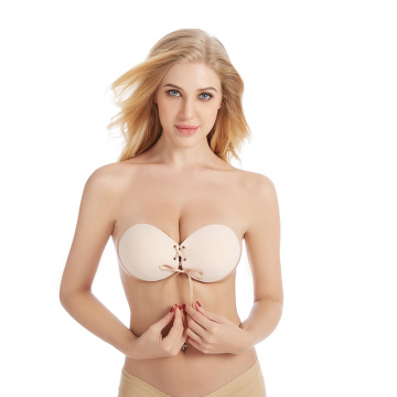 Sexy Girls Silicone Strapless Bra Seamless Sticky