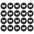 20pcs 26mm Butterfly Notebook Plastic Binding Ring Mushroom Hole Disc 360 Degree