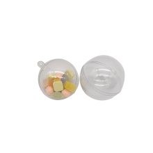 Decoration openable transparent plastic hollow ball