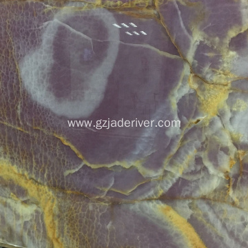 Purple Marble Slab Mai launi Onyx na Halitta mai launi