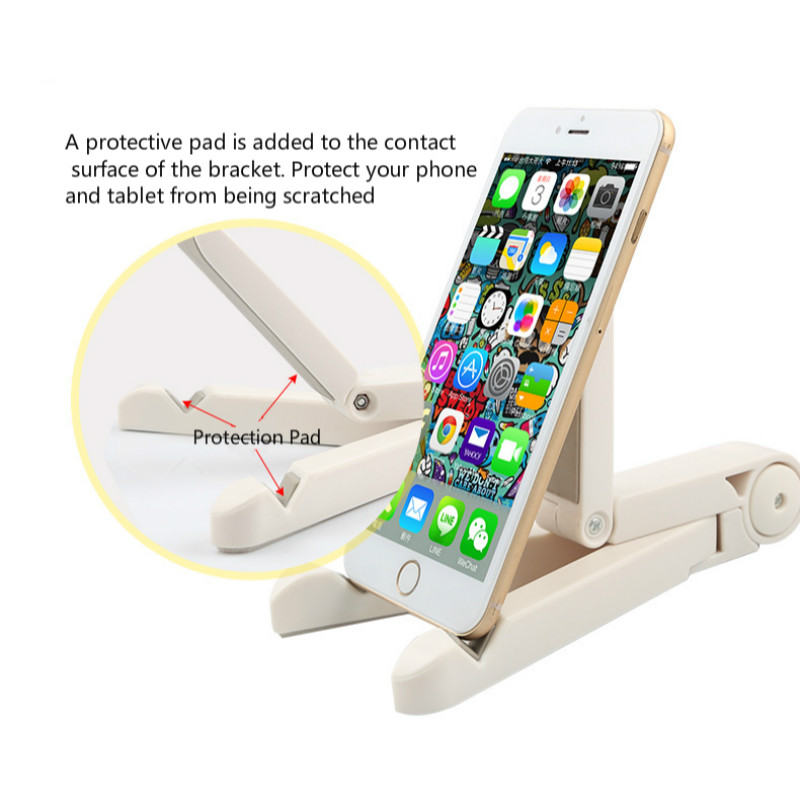 Universal Foldable Phone Tablet Holder Adjustable Desktop Mount Stand Tripod Stability Support for iPhone iPad Pad Table