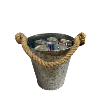 ice bucket  with Hemp Rope