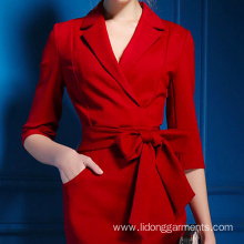 Elegant Beautiful Pencil Dresses Women Wear With Belt