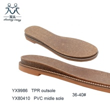 TPR Flat  Shoe Sole for Ladies Sandals