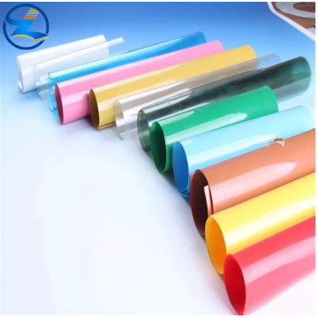 Colored rigid PVC sheet for packing and printing