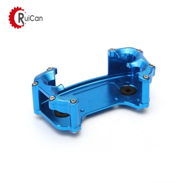 blue anodized cnc milling aluminum front bulkhead for racing