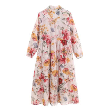 Women's Long Sleeve Shirt Print Cheap Dress