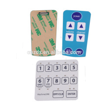 2020 hot sale membrane switch panel sticker