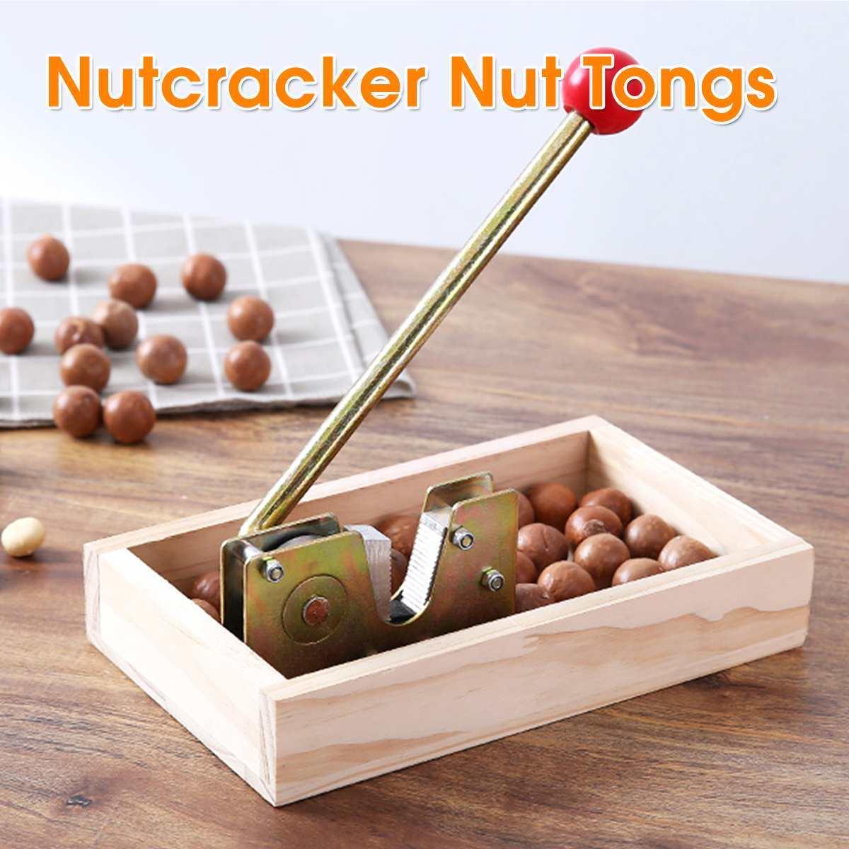 Nutcracker Nut Tongs Walnuts Heavy Duty Macadamia Opener Peeling Machine with Durable Metal Handle for Hazelnuts Almonds