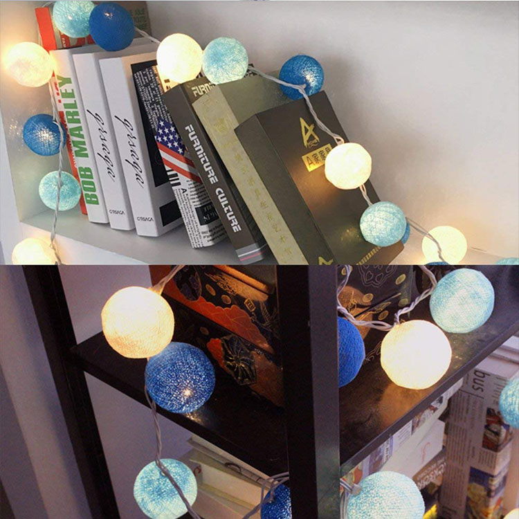 3m 20 led cotton ball led garland for festival decoration