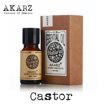 AKARZ Famous brand natural aromatherapy castor oil Calm Nourish hair Prevent skin aging castor essential oil