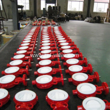 Wafer Lug Type PTFE Lined Butterfly Valve