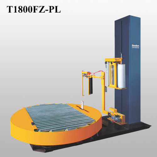 Online pallet wrapping machine