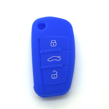 Audi logo silicone car key case