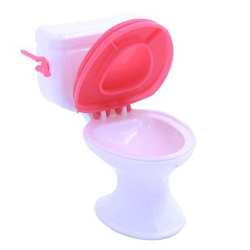 1:12 Dollhouse Furniture Bathroom Plastic Toilet Doll Toys Dongzhur Play House Toy Accessories Small Toilet Dollhouse Miniature