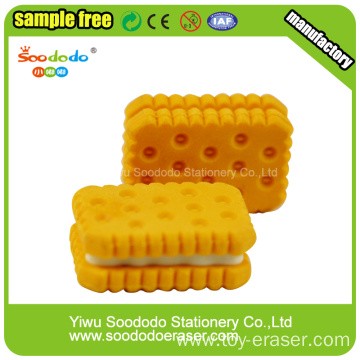 Biscuit Shaped Eraser Funny School Stationery