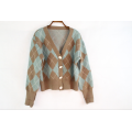 OEM Ladies Wool Knitted Cardigan Coat