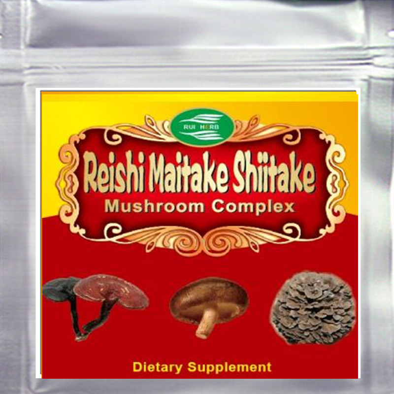 Top3 Blend Mushroom (Maitake+Reishi+Shiitake) 50% Polysaccharide Powder 300gram Free shipping