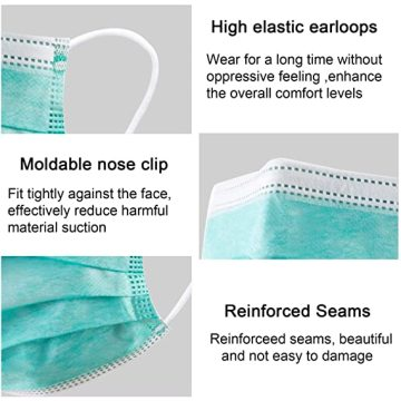3 Layer Disposable Face Masks with Nose Clip