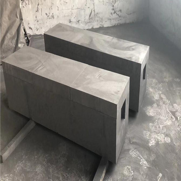 Vibration molding graphite block