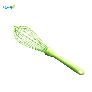 With beautiful smile plastic handle egg whisk
