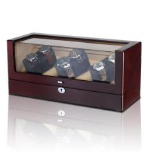 LED Watch Winder Case For 6 Watches