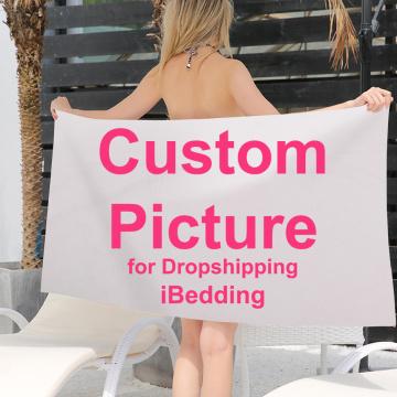 Custom Bath Towel Customize Printed Summer Travel Beach Towels for Adult Yoga Mats Microfiber Quick Dry Bathroom DropShipping