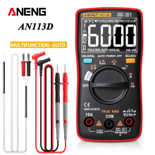 ANENG AN113D Electrical Digital Professional Multimeter 6000 Count Meter Transistor Tester Rang ACDC Voltage Current Detector