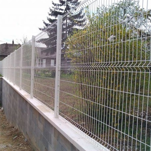 Factory price curved welded wire metal fence