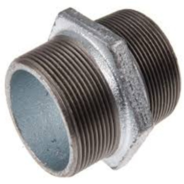 Galvanized Malleable Iron Pipe Fitting Thread hex Nipple