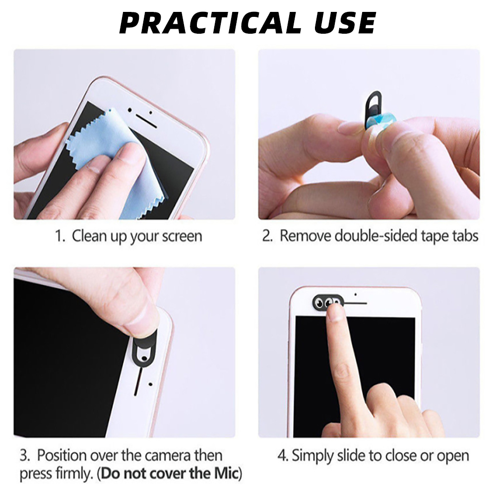 ANKNDO Universal Webcam Cover Phone Lenses Antispy Camera Cover For iPad Macbook Web Laptop PC Tablet Privacy Sticker For Xiaomi