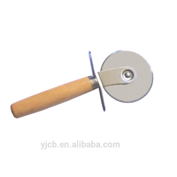 stainless steel cutter blade with wood handle