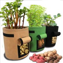 Potato Cultivation Planting Woven Fabric Bags Garden Pots Grow Bag Farm Planters Vegetable Planting Bags Home Garden Tool