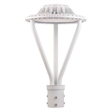 100W Outdoor Led Lamp Post Lights White Finish