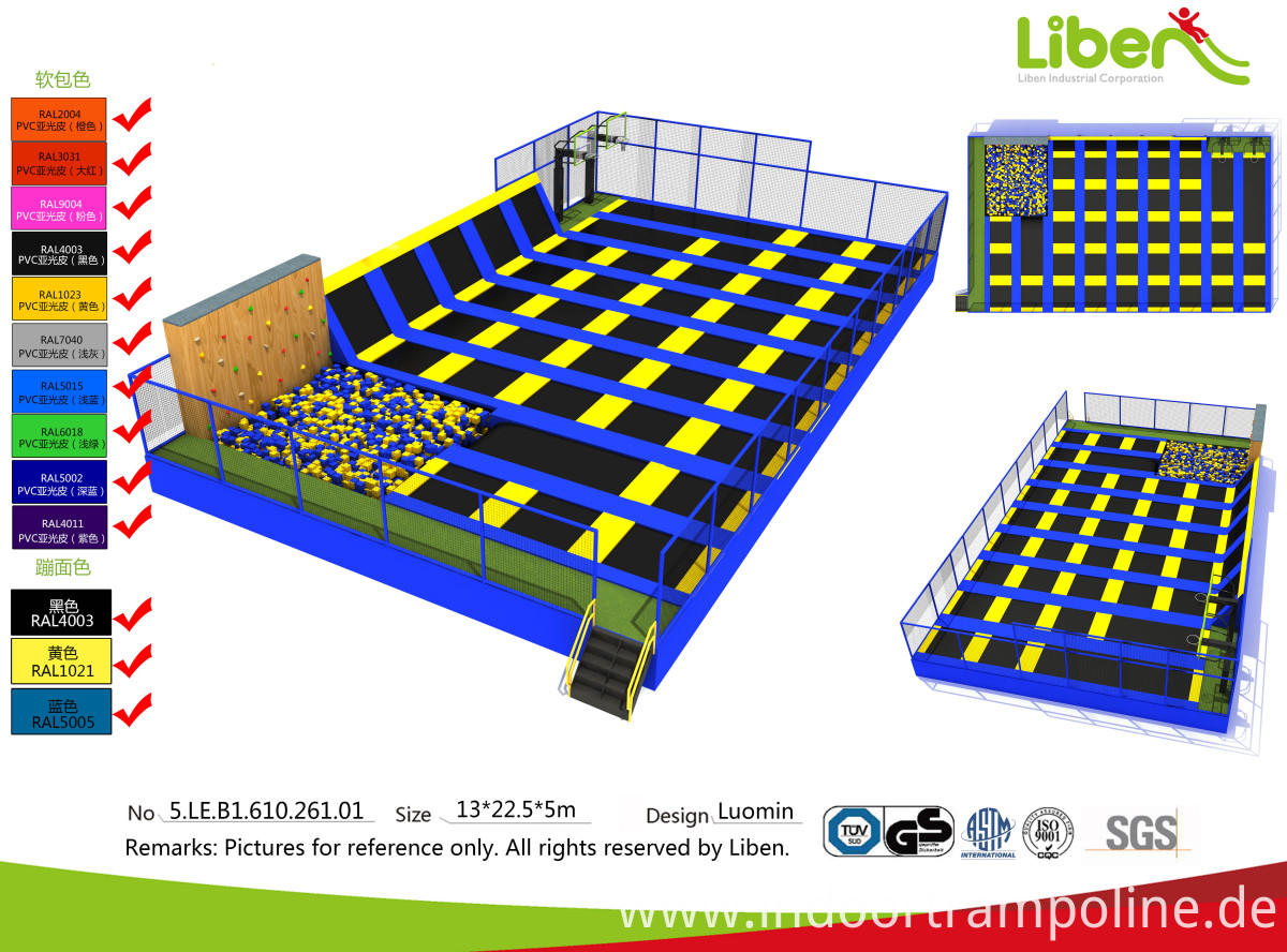 trampoline park in Poland
