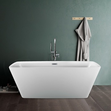 59 Inch Contemporary Square Soaking Standing Acrylic BathTub